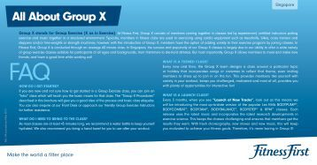 All About Group X - Fitness First