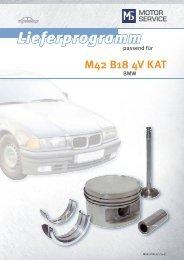 M42 B18 4V KAT - MS Motor Service Deutschland GmbH