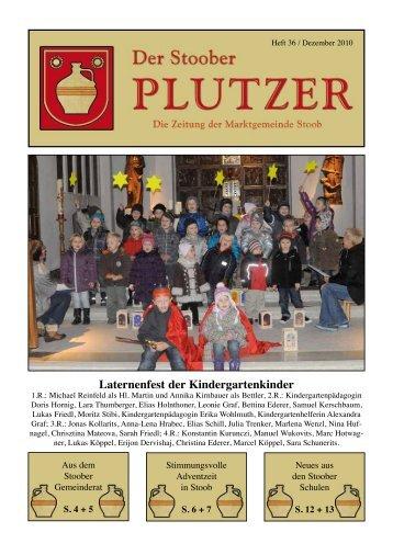Laternenfest der Kindergartenkinder - Marktgemeinde Stoob