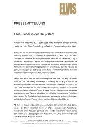 Elvis Ausstellung allgemein - Ellington Hotel Berlin