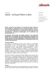 Basispressetext stilwerk Berlin 2012