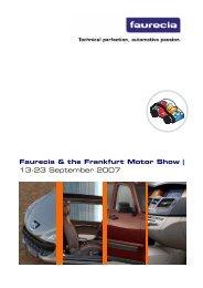Press kit - 2007 Frankfurt Motor Show - Faurecia