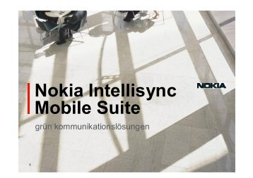 Nokia Intellisync Mobile Suite - Grün Kommunikationslösungen