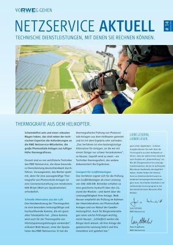 Ausgabe 14, 09/2012 - RWE Rhein-Ruhr Netzservice