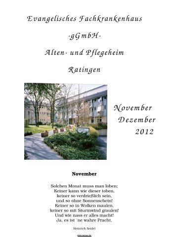 Heimzeitung November Dezember 2012 - Evangelisches Alten- und ...
