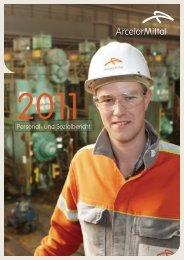 Personal- und Sozialbericht 2011 - ArcelorMittal Bremen