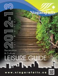 current Leisure Guide - City of Niagara Falls