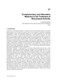 Complementary And Alternative Medicine In The Treatment Of - InTech
