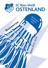Badminton - Tennis - Squash - SC Ostenland