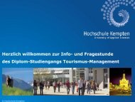 Präsentation Infoveranstaltung - Hochschule Kempten