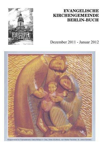 EVANGELISCHE KIRCHENGEMEINDE BERLIN-BUCH Dezember ...