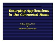 Emerging Applications in the Connected Home - Microarch.org
