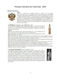 the Baltic Sea Vodka Party — 2009! - Cambridge University Russian ...