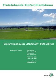 "Einfamilienhäuser ""Dorfmatt"", 5646 Abtwil - Jego AG"