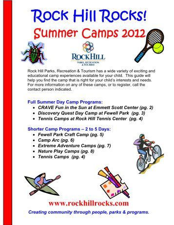 Summer Camps 2012 - City of Rock Hill