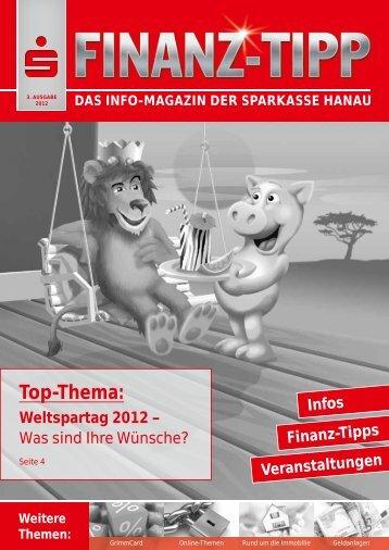 das info-magazin der sparkasse hanau - Privatkunden
