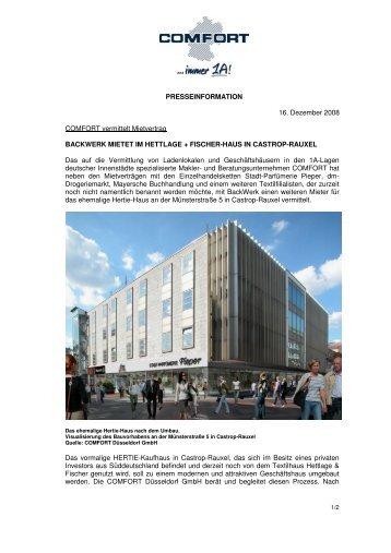 BackWerk mietet im Hettlage + Fischer-Haus an - comfort.de