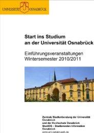 Allgemeine Informationen - Zentrale Studienberatung der Universität ...