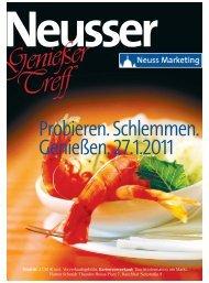 Genießer Treff 2011: Probieren. Schlemmen ... - Neuss Marketing