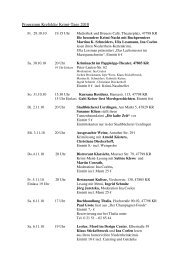 Programm Krefelder Krimi-Tage 2010 - Go-Krefeld
