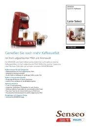 HD7854/80 SENSEO® System für Kaffeepads - Passiontec