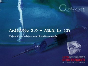 Antid0te 2.0 - ASLR in iOS - Reverse Engineering Mac OS X