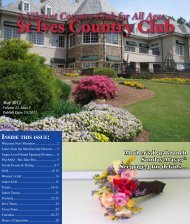 St Ives Country Club - Members Statements