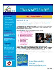 Edition 81 -November 2011 - Wembley Downs Tennis Club