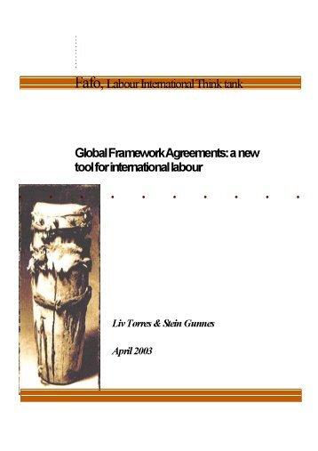 Fafo, Labour International Think tank Global Framework Agreements ...