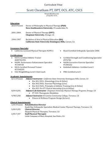 Download my CV - Dr. Scott Cheatham