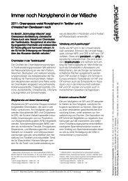Nonylphenol in der Wäsche - Greenpeace