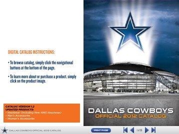 DIGITAL CATALOG INSTRUCTIONS - Dallas Cowboys Pro Shop