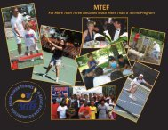 History of the Milwaukee Tennis & Education Foundation