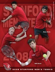 Tennis Office • Stanford Athletics • Stanford, CA 94305 - Community