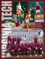 2006-2007 virginia tech women's tennis - Hokie Sports