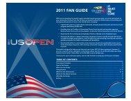 2011 fAN GUIDe - USTA.com