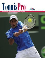 The International Magazine for PTR Tennis Teachers and Coaches