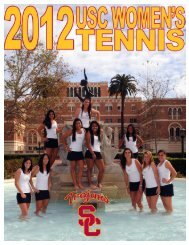 2012 USC WOMEN'S TENNIS - Community
