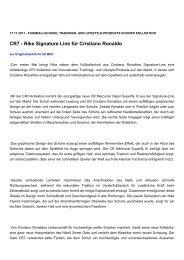 CR7 - Nike Signature Line für Cristiano Ronaldo - Sporttechnologie ...