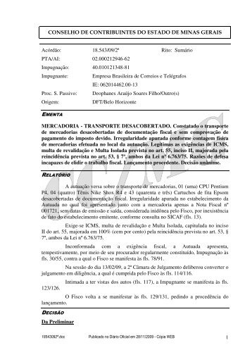 Microsoft Word - 18543092\252.doc - Secretaria de Estado de ...