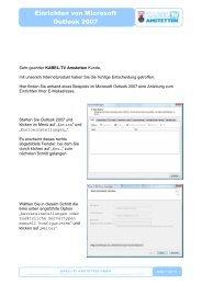 2008-09 E-MAIL einrichten Outlook 2007 - Kabel TV Amstetten