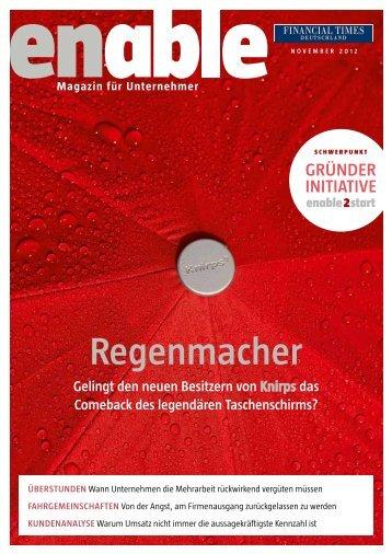 enable - Regenmacher - Financial Times Deutschland