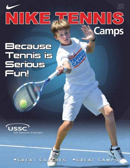 Círculo de rodamiento inferencia perder  NIKE Tennis Camp – US Sports Camps