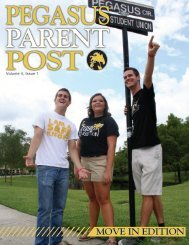 Volume 4, Issue 1 - Pegasus Parent - University of Central Florida