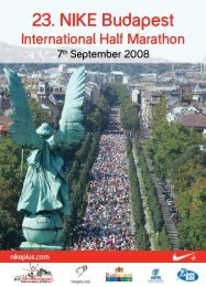 23. NIKE Budapest - Budapest Marathon Organisation