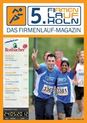 Fila Magazin 2012 - 5. Firmenlauf Köln