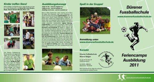 Feriencamps Ausbildung 2011 Dürener Fussballschule