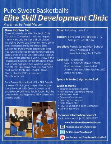 sign up today! Clinic features - TriLakesShootOut
