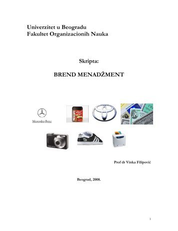 Brand Management - Marketing PR FON - Fakultet organizacionih ...