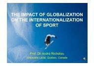 Richelieu Impact of globalisation on internationalisation of sport